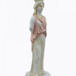 Caryatid greek alabaster statue - pink 2