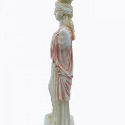 Caryatid greek alabaster statue - pink 3