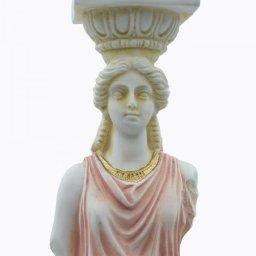Caryatid greek alabaster statue - pink 4