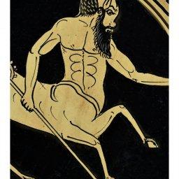 Greek ceramic plate depicting Centaurus (24cm) 3