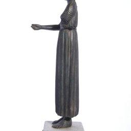 Heniokhos, The Charioteer of Delphi  green plaster statue  2