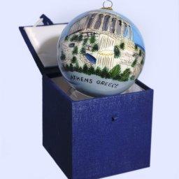 Christmas Ball Parthenon Acropolis ornament tree in a gift box 1