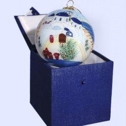 Christmas Ball Santorini ornament tree in a gift box 1