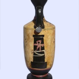 Archaic black-figure lekythos with Achilles and Thetis 3