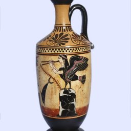 Archaic black-figure lekythos with Odysseus and the Sirens  2