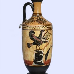 Archaic black-figure lekythos with Odysseus and the Sirens  1