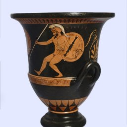 Classical red-figure crater with Achilles - Hector - Athena, greek pottery replica 2