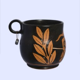 Classical red-figure one-handled skyphos (cup) with an owl, symbol of wisdom 2