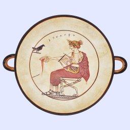 Kylix of Apollo, greek pottery replica 1