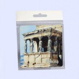 Athens Coaster with Caryatids of Erechtheion 1