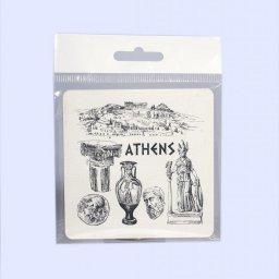 Athens Greece Coaster 1