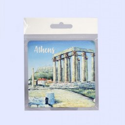 Athens Coaster with The Temple of Olympian Zeus 1
