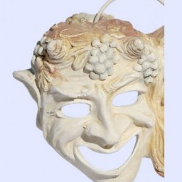 Comedy and drama greek plaster mask statue 2