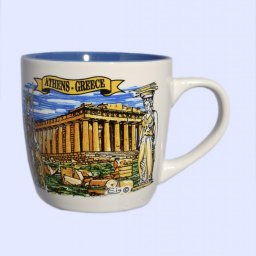 Porcelain cup with Parthenon of Acropolis in Athens 1