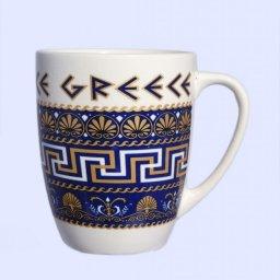 Porcelain mug with Meanders, the Greek key design 1