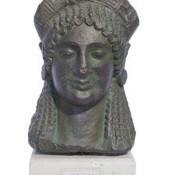 Kore greek plaster bust statue 1