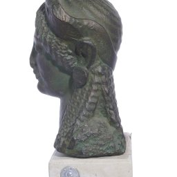 Kore greek plaster bust statue 2