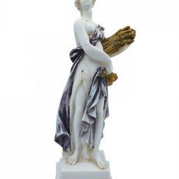 Demeter, Greek goddess of the harvest and agriculture, alabaster statue  1