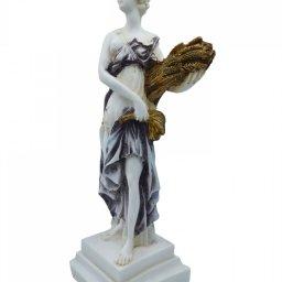Demeter, Greek goddess of the harvest and agriculture, alabaster statue  2