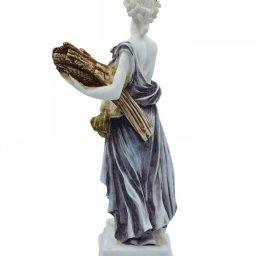 Demeter, Greek goddess of the harvest and agriculture, alabaster statue  3