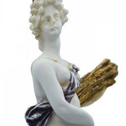 Demeter, Greek goddess of the harvest and agriculture, alabaster statue  4