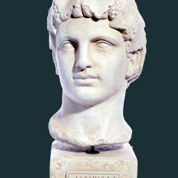 Dionysus greek plaster bust statue 1