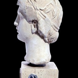 Dionysus greek plaster bust statue 2