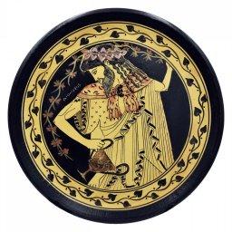 Greek ceramic plate depicting Dionysus (28cm) 1