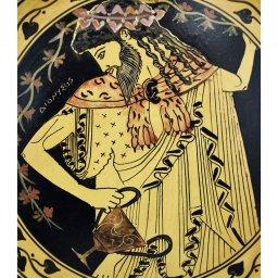 Greek ceramic plate depicting Dionysus (28cm) 2