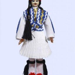 Handmade Large Tsolias Doll-Blue vest 1