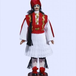 Handmade Small Tsolias Doll-Red vest 1