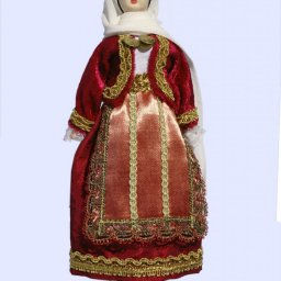 Handmade Large doll of an Athenian woman dressed in traditional greek costume 1