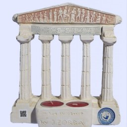 Parthenon facade of the Acropolis in Athens large plaster candlestick 2
