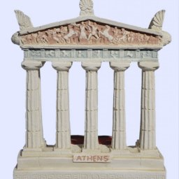 Parthenon facade of the Acropolis in Athens large plaster candlestick with acroceramo 1