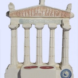 Parthenon facade of the Acropolis in Athens large plaster candlestick with acroceramo 2