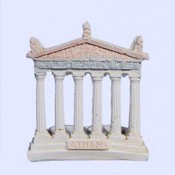 Parthenon facade of the Acropolis in Athens medium plaster candlestick with acroceramo 1