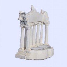 Parthenon facade of the Acropolis in Athens medium plaster candlestick with acroceramo 2