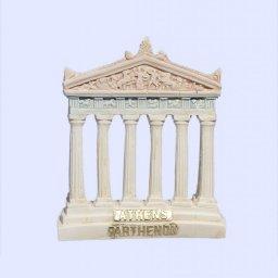 Parthenon facade of the Acropolis in Athens medium plaster statue with acroceramo 1
