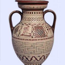 Large Attic amphora with geometric decoration 2