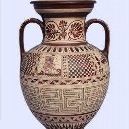 Medium size Attic amphora with geometric decoration 1