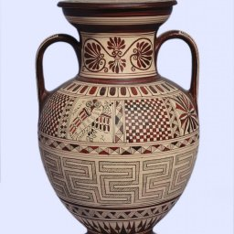Medium size Attic amphora with geometric decoration 2