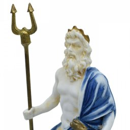 Hades, Pluto, God of the dead and the king of the underworld, small alabaster statue with color 3