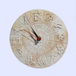 Round plaster wall clock with The ancient Olympic Games Sports 1