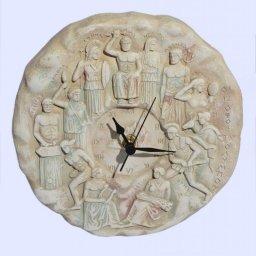 Medium round plaster wall clock with the Twelve Olympians Gods (full-body) 1