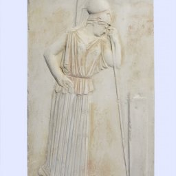 Greek small plaster relief sculpture of The Mourning Athena 1