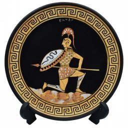 Greek ceramic plate depicting Hector, prince and warrior of Troy (28cm) 2