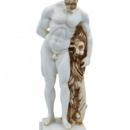 Hercules greek alabaster statue with color 1
