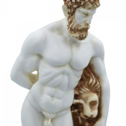 Hercules greek alabaster statue with color 3