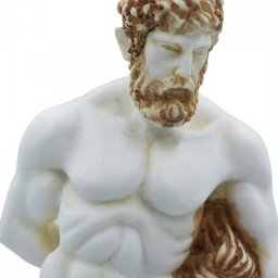Hercules greek alabaster statue with color 4