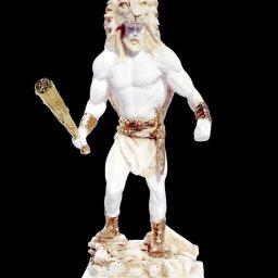 Greek alabaster statue of Hercules holding his club  1